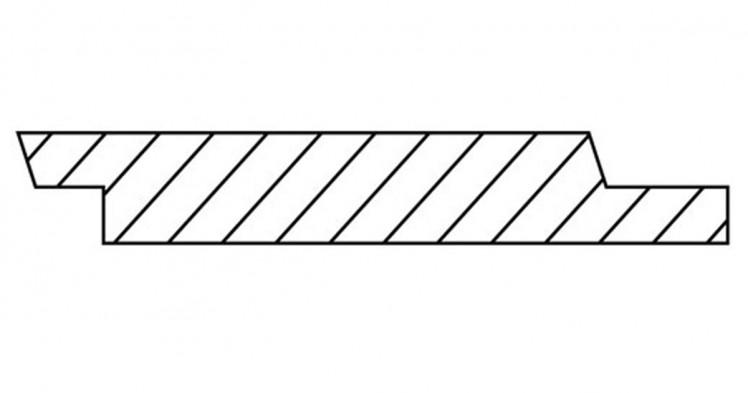 DURApatina Nimbusprofil Selekt, 21 x 92 mm, Kristallgrau