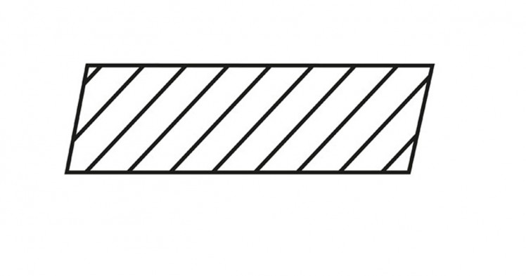 DURApatina Rhombus-Leisten Selekt, 21 x 65 mm, Gletschergrau