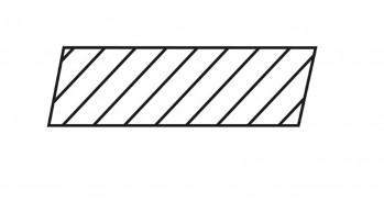 DURApatina Rhombus-Leisten Selekt, 21 x 65 mm, Kristallgrau