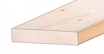 Glattkantbretter nord. Fichte 18x80 mm, 4-seitig gefast, Gkl. u/s