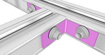 Eckverbinder - Twinbox UK, 19x40x2 mm, 10 St.
